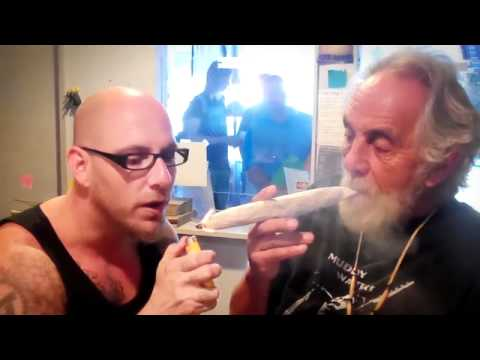 Tommy Chong Rolls a Giant Joint