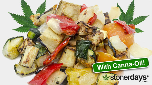 How to make Roasted Vegetables with Marijuana