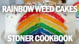 Stoner Cookbook; Rainbow Weed Cakes