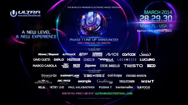 ULTRA MIAMI 2014 – Phase One Teaser