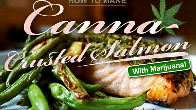 Cannabis Crusted Salmon