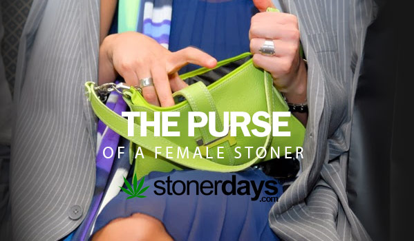 The Purse Of A Female Stoner