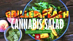 grilled-peach-cannabis-salad