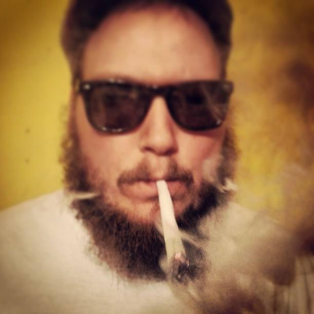 Josh Heinrichs smoking a joint stonerdays
