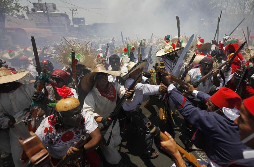 AP APTOPIX Mexico Anniversary