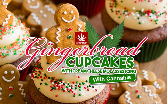 cannabis-gingerbread-cupcakes